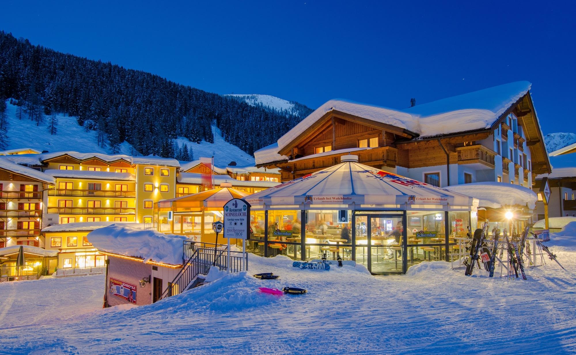 Apres Ski mit Schirmbar in Zauchensee