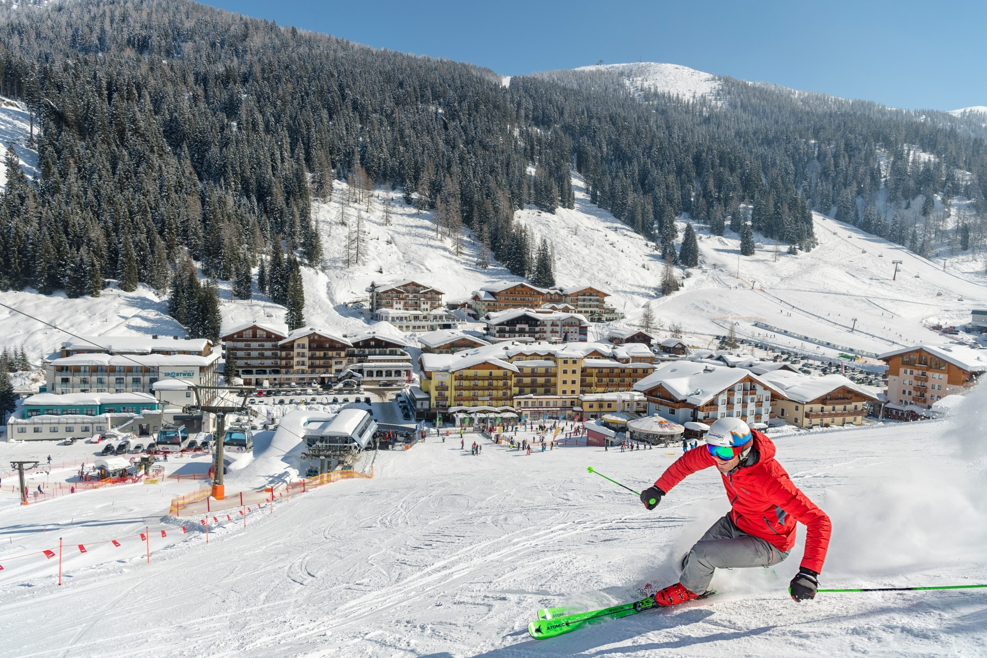 Skifahrer in Zauchensee