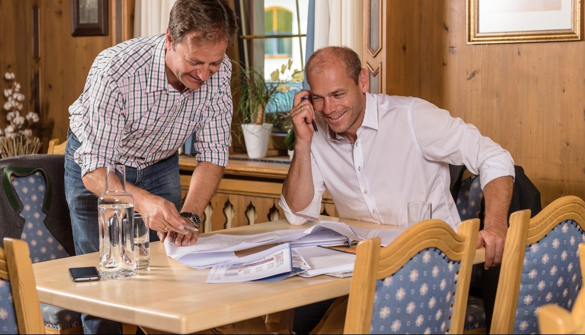Rupert und Michael Walchhofer im Hotel Zauchenseehof