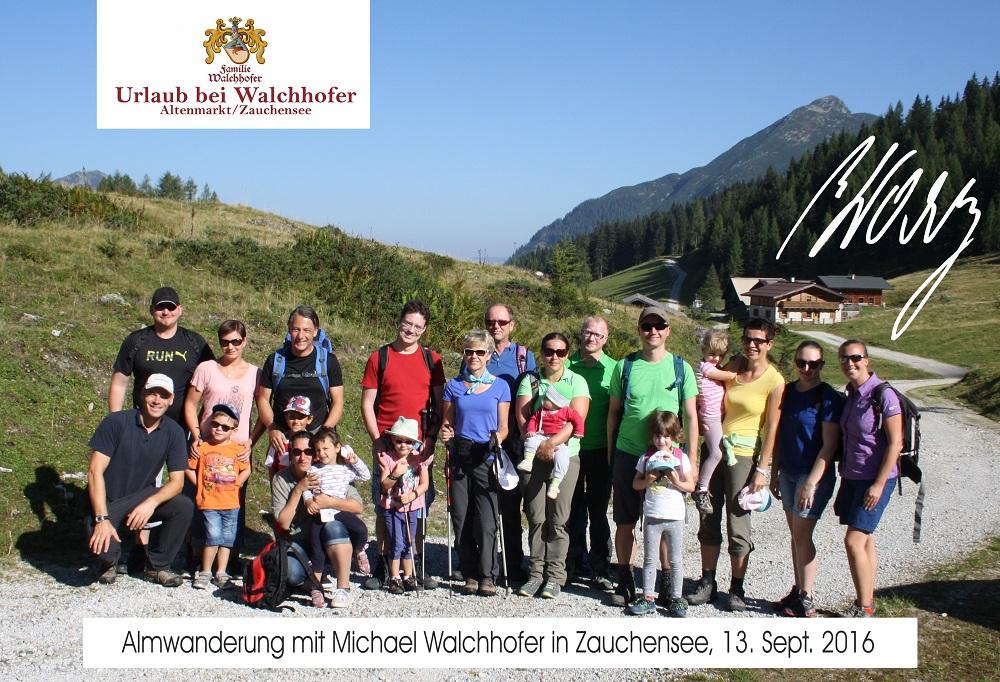 Almwanderung mit Michael Walchhofer - Gruppenfoto