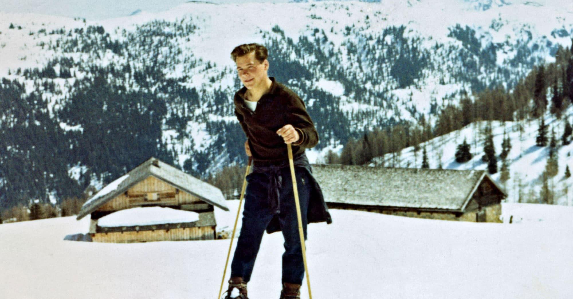Foto von einem Skifahrer aus dem Jahr 1962