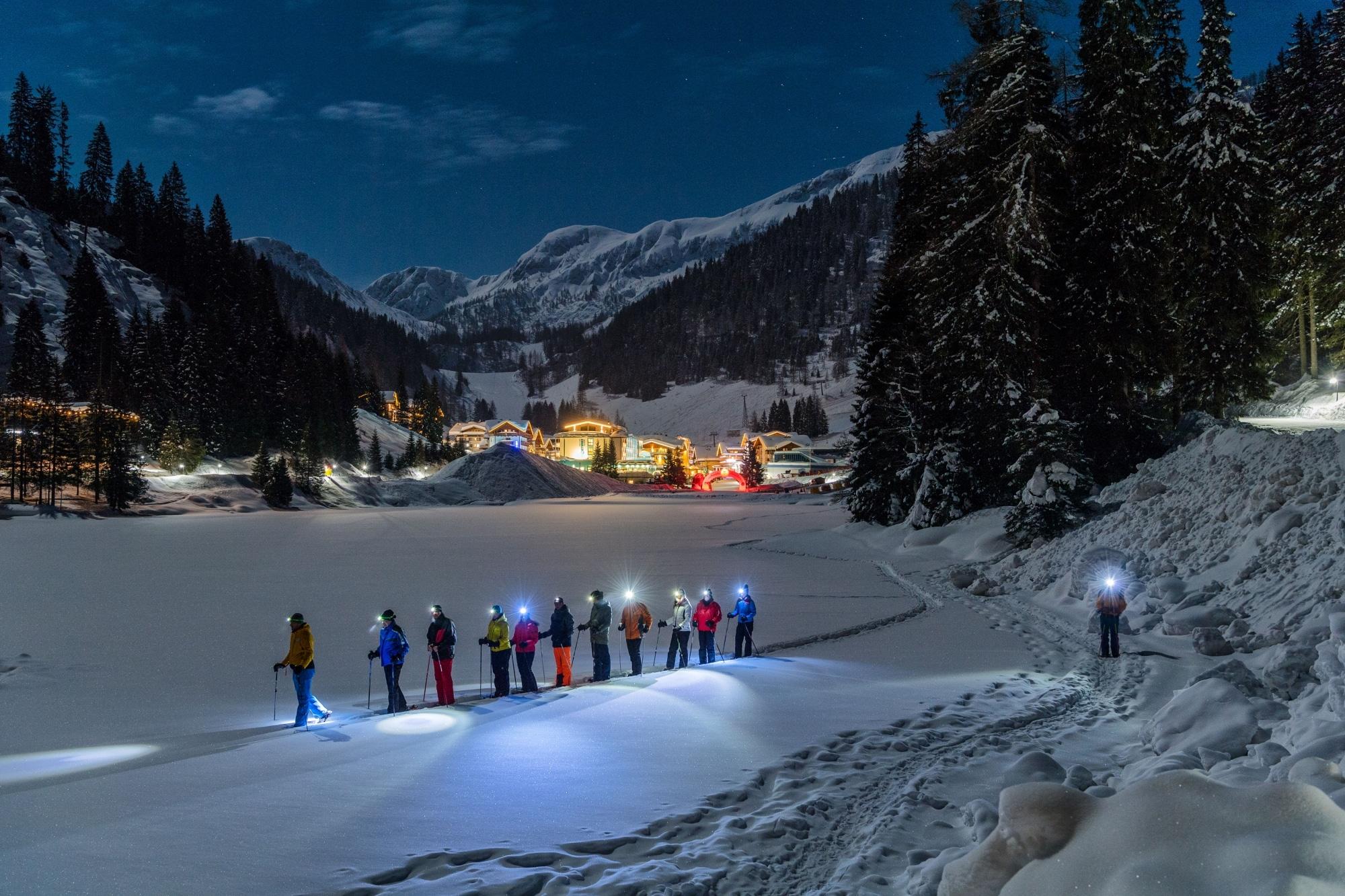 Nacht-Langlaufen in Zauchensee