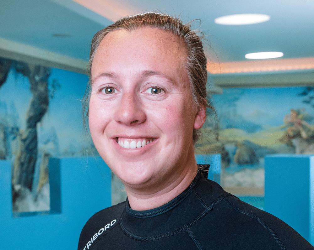 Schwimmlehrerin im Hotel Zauchenseehof