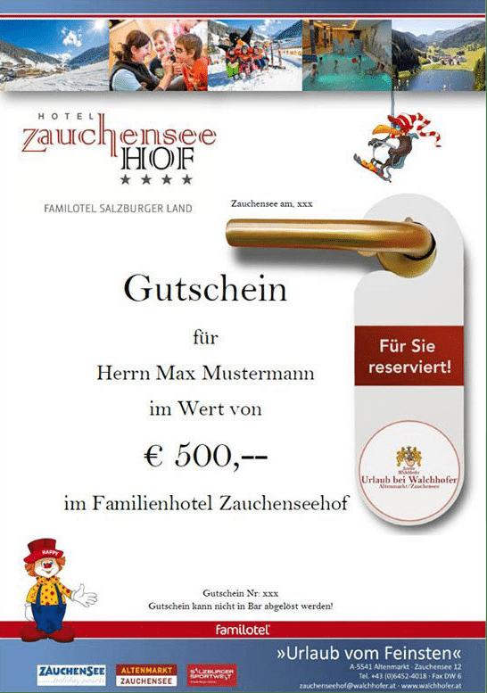 Gutschein vom Hotel Zauchenseehof