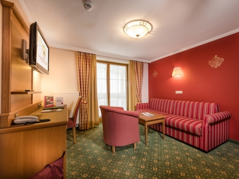 2-Raum-Appartement mit Couch im Hotel Zauchenseehof
