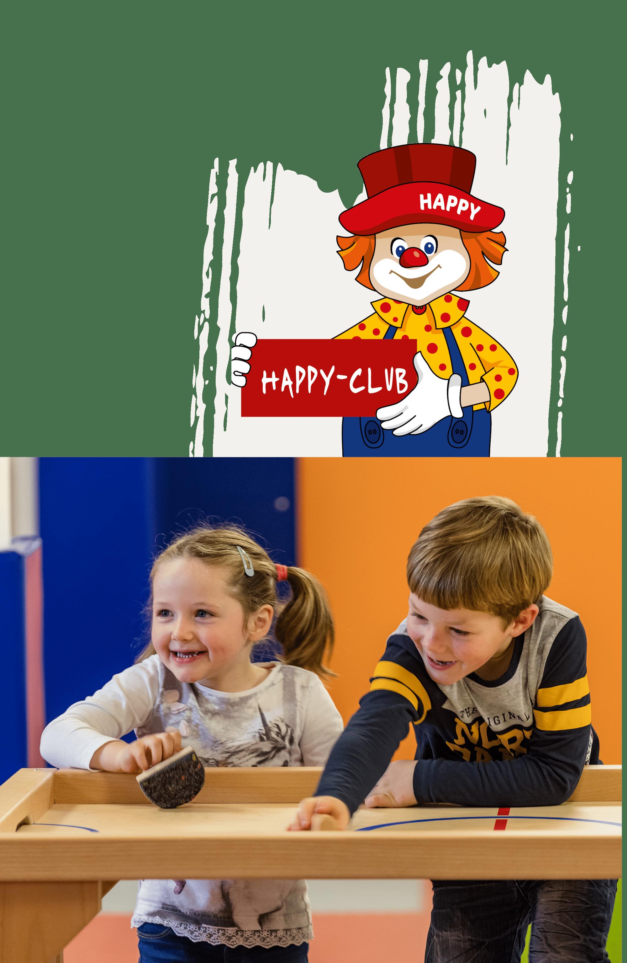 Kinder beim Spielen im Happy-Club
