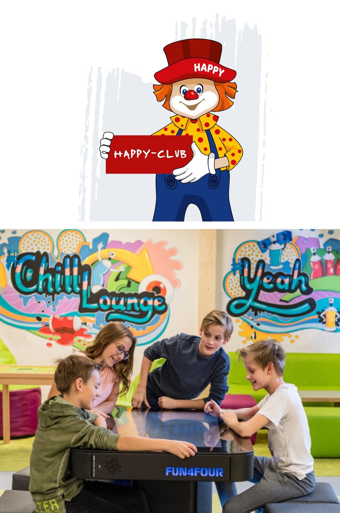 Kinder in der Chill Lounge im Familienhotel Zauchenseehof